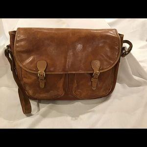 Vintage Brahmin Leather Briefcase Messenger Bag